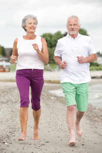 Active and sporty senior couple