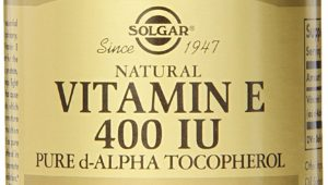 Vitamin E supplement by Solgar review